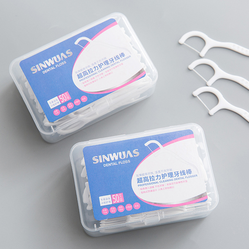 50Pcs/Pack TWDW Disposable Oral Care Floss Pick Teeth Cleaner Dental Floss Flosser Picks Teethpick Health & Beauty Tools