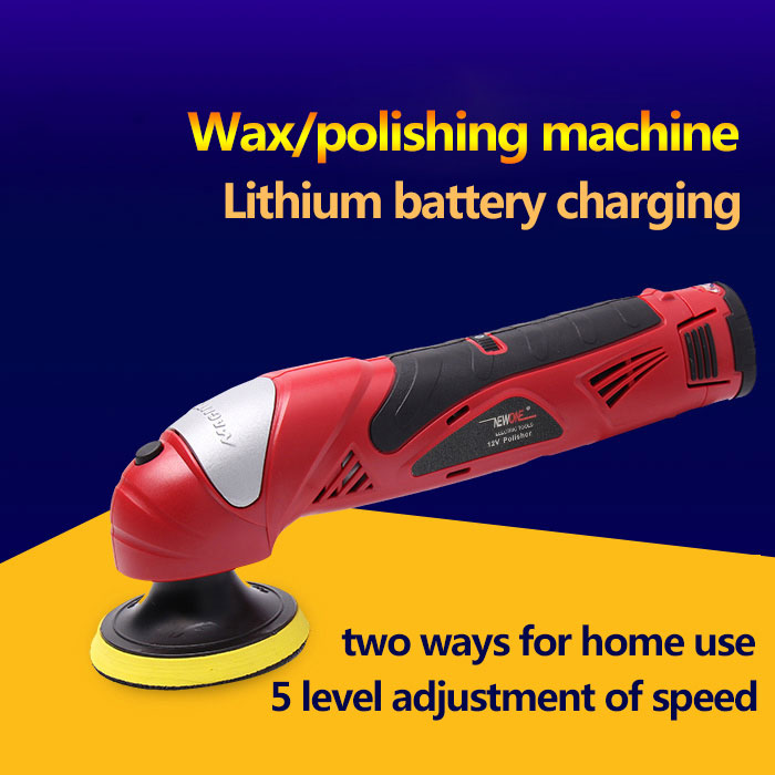 Tools : NEWONE 12V Li-ion electric Power tool Car Shoe Polisher Waxing polishing clearning shining machine Portable Variable speed