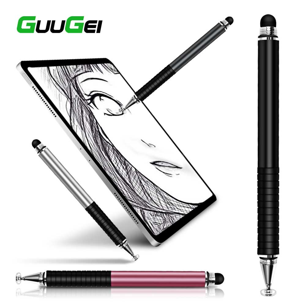 GUUGEI Stylus Pen 2 In1 For Ipad Tablet Pens Drawing Pencil Capacitive Screen Touch Pen Stilus Smart Pen For Mobile Phone PC