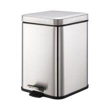 Smartbin 6L нержавеющая сталь шаг педали мусорное ведро корзина для мусора отпечатков пальцев с крышкой Кухня серебро