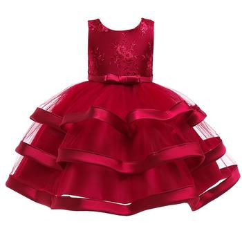 Dress For Girls Kids Christmas Clothing Girls' Wedding Banquet Clothes Baby Sequins Dress Children Dance Party Perform Costume 1
