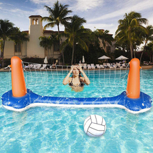 Outdoor toy Inflatable swimming pool toy inflatable floating volleyball rack water volleyball net water game floating volleyball