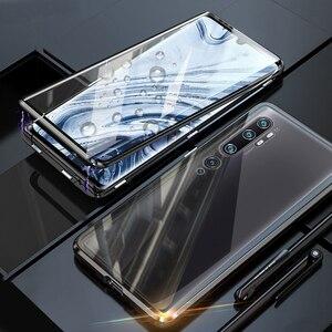 Étui magnétique pour Xiao mi Note 10 étui Double face verre trempé étui de Protection complet pour Xiao mi mi Note 10 Pro CC9 Pro