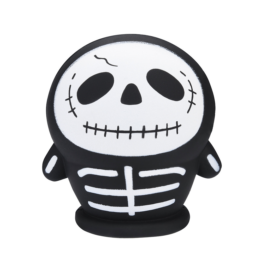 Halloween Skull Toys Simulation Zombie Man Creative Doll Soft Squeeze Toy Kids Toys Doll Decompression Slow Rebound Toy #A