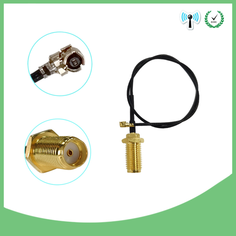 500 Pieces Lot 50cm Cord UFL To RP SMA Connector Antenna WiFi Pigtail Cable IPX To RP-SMA  Female  To IPX 21cm