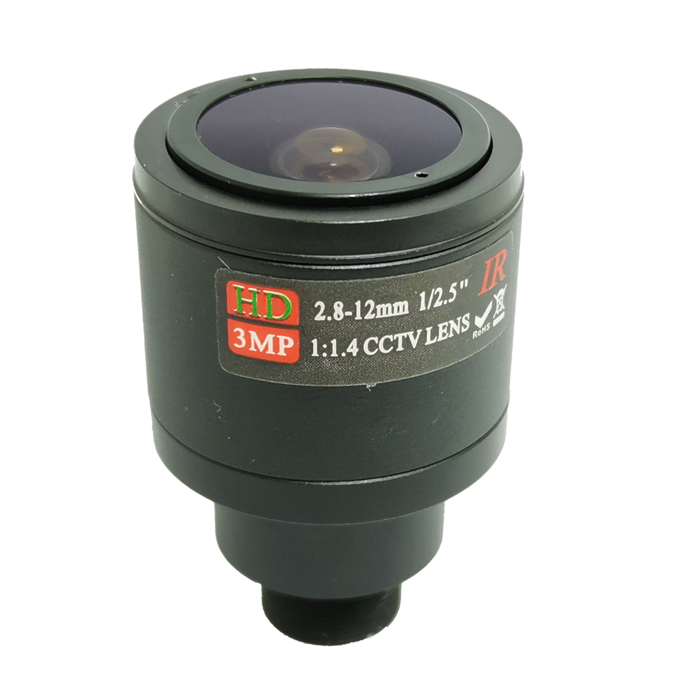 <font><b>2.8mm</b></font>-12mm Lens <font><b>M12</b></font> 3MP for HD Security Cameras F2.0 Image 1/2.5 inch Manual Focus and Zoom IR CCTV Camera Lens 3 Megapixel image