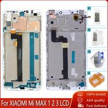 100% จอLCD + กรอบสำหรับXiaomi Mi MAX 1 2 3 จอแสดงผลLCDหน้าจอสัมผัสแท่นพิมพ์สำหรับMi MAX1 2 3 เปลี่ยนเครื่องมือฟรี