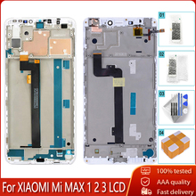% 100% test LCD + çerçeve için Xiaomi Mi MAX 1 2 3 LCD ekran dokunmatik ekran digitizer meclisi için Mi MAX1 2 3 değiştirme ücretsiz araçları