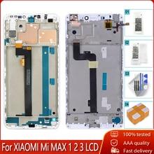 شاشة عرض LCD مختبرة 100% + إطار لهاتف شاومي Mi MAX 1 2 3 تجميع رقمي لشاشة اللمس لـ Mi MAX1 2 3 أدوات مجانية للاستبدال
