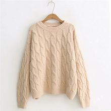 купить Autumn Winter Sweater Women Invierno 2019 O-neck Long Sleeve Loose Pullovers Jumper Female Casual Knitted Tops Sueter Mujer онлайн