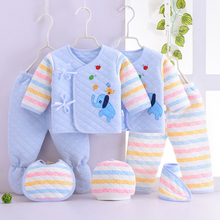 7 Piece Winter Warm Newborn Baby Clothing Set Cotton Infant Clothes Unisex Baby Boys Girls Clothes for Newborns Set 0-3Months costumes for newborns baby boys infant pullover clothes for babies loungewear layette sets t shirts pants for girls clothing set