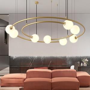 Modern LED lights geometric ring lights luxury living room lights design restaurant hotel model room exhibition hall chandelier