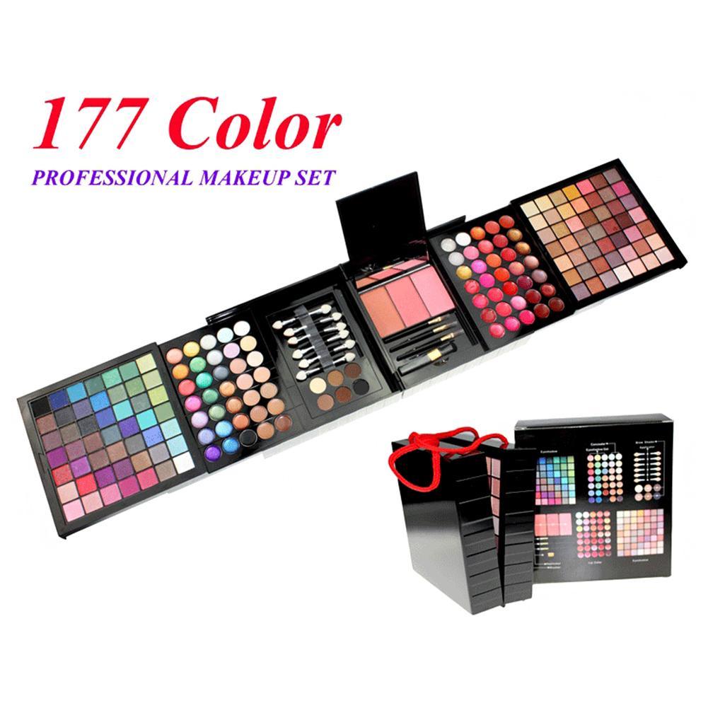 conjunto de maquiagem 177 cores sombra paleta maquiagem conjunto 98 sombra de olho 35 brilho labial