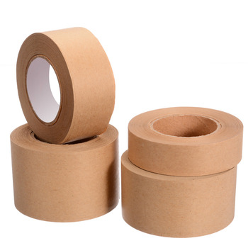 1 Roll 30m Gummed Kraft Paper Tape Bundled Adhesive Paper Tapes Sealed Water Activated Painting Sticker for Packaging Tool недорого