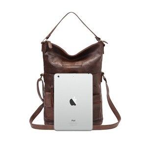 Image 4 - 女性のバッグのショルダーバッグ女の子のためのpuレザーハンドバッグクロスボディはパケットのファッション高品質カジュアルトート 14laptopバッグ