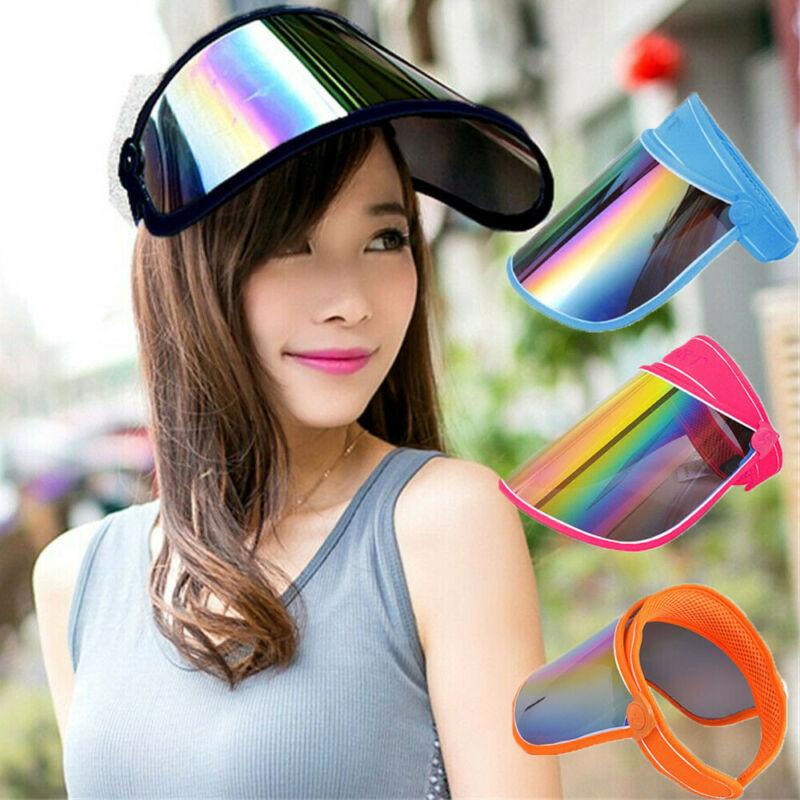Visor Adjustable Cap Sport Sun Summer Outdoor Sunscreen Hat Full Face Head Shiled Solar Reflective UV Protectant Hat Cap /BY