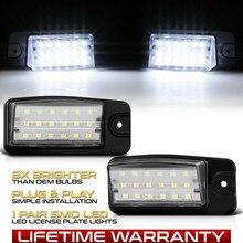 2 pces led luz da placa de licença lâmpadas para nissan x-trail t32 maxima altima murano nv1500 2500 3500 infiniti fx ex 35 37 qx 50 70