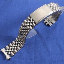 Acessórios de relógio banda para seiko skx007 skx009 skx011 pulseira de relógio correia de aço 19mm 20mm