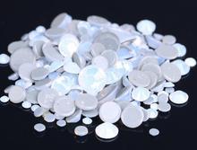 ss3-ss30 White Opal Crystal Nail Art hotfix Rhinestone decorations 3D Flatback Glass Hot Fix Rhinestones for Garment