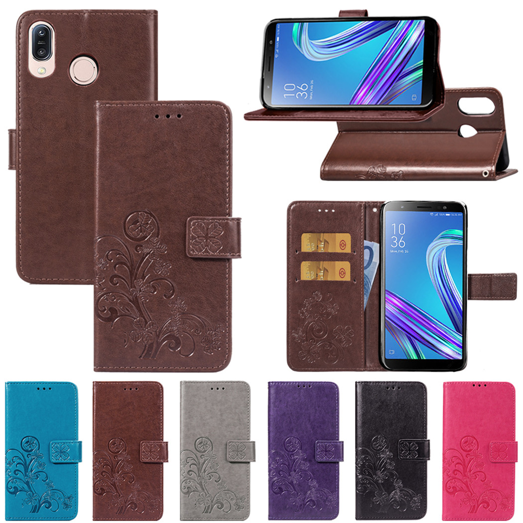 Wallet <font><b>Case</b></font> for <font><b>Asus</b></font> <font><b>Zenfone</b></font> ROG <font><b>Phone</b></font> II ZS660KL 6 ZS630KL Leather Flip <font><b>Case</b></font> for <font><b>4</b></font> Max Pro ZC554KL <font><b>4</b></font> <font><b>Selfie</b></font> Pro ZD552KL Cover image
