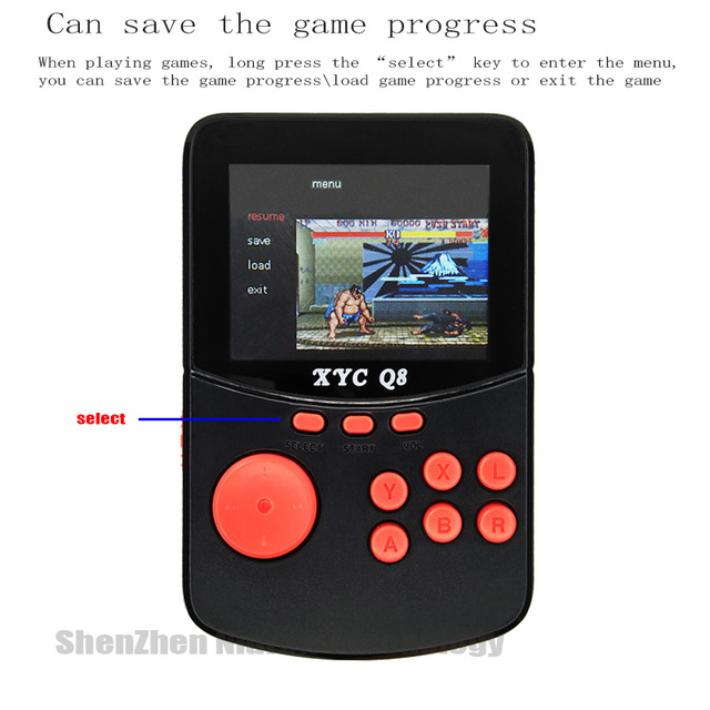 With 512M32G TF Card Retro Handheld Video Games Console For NESSNESMAMEMDGBA 16 Bit Arcade Game Players 10000 Games TV Out 2
