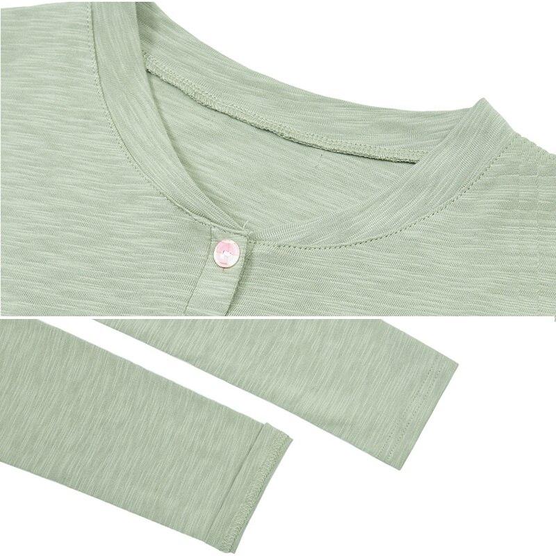 Женская хлопковая футболка на пуговицах однотонная свободная