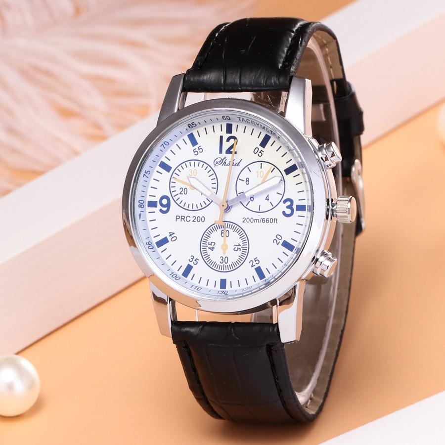 Leather Strap beautiful Watch Blue-ray Glass watch 2021