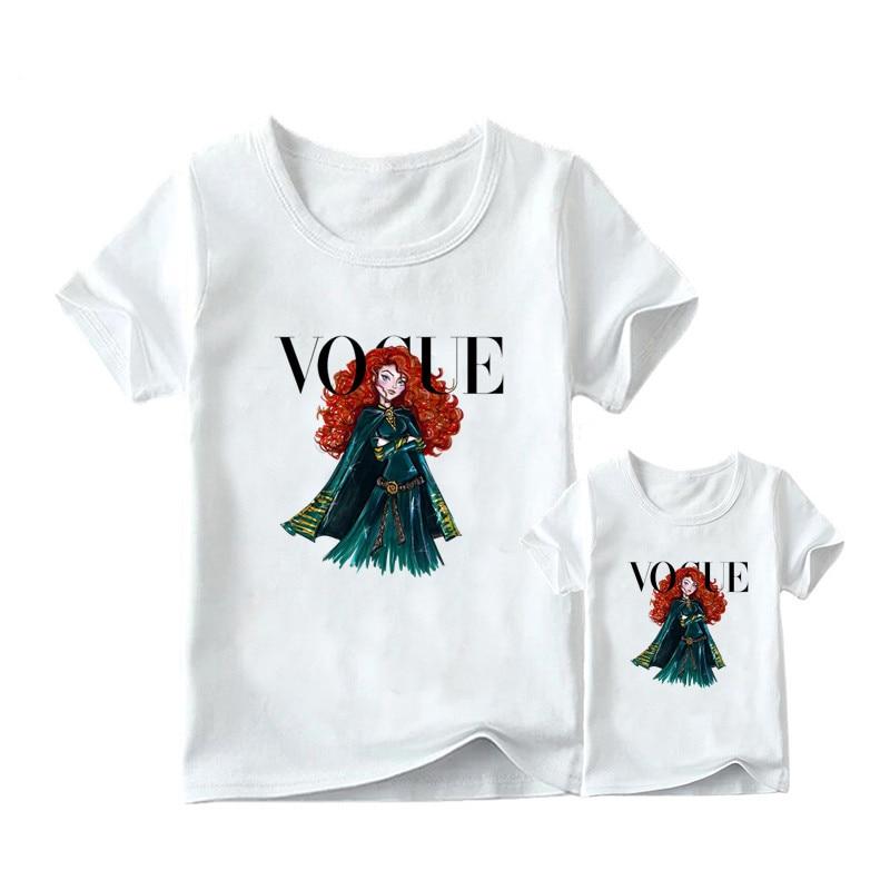 1 предмет, г. Летняя футболка с принтом принцессы в стиле панк модная одежда для мамы и дочки забавная семейная футболка с короткими рукавами - Цвет: 10