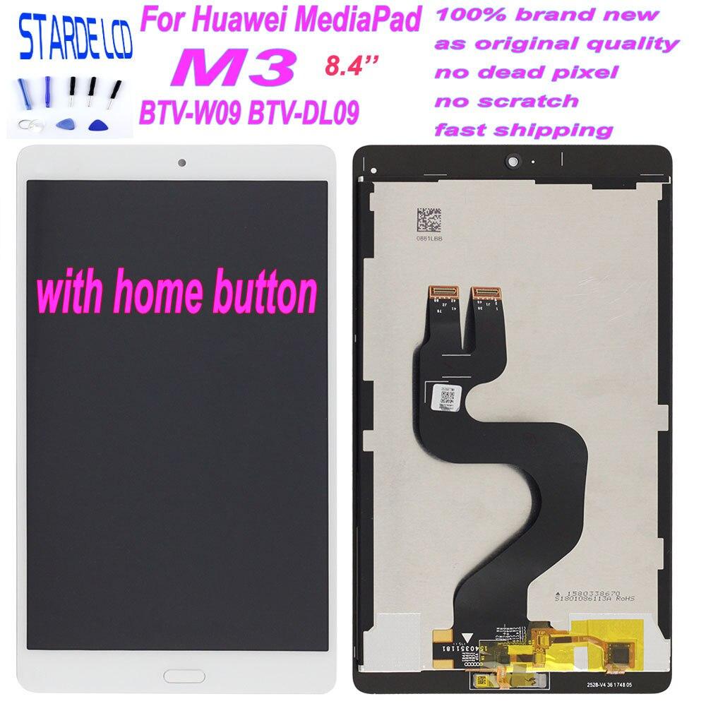 Starde 8.4 ''Lcd pour Huawei MediaPad M3 BTV-W09 BTV-DL09 écran LCD écran tactile numériseur assemblage noir câble flexible avec la maison