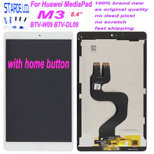 Starde 8.4'' Lcd For Huawei MediaPad M3 BTV-W09 BTV-DL09 LCD Display Touch Screen Digitizer Assembly Black Flex Cable with Home replacement new lcd display touch screen assembly for huawei mediapad t2 7 0 lte bgo dl09 black 7 inch