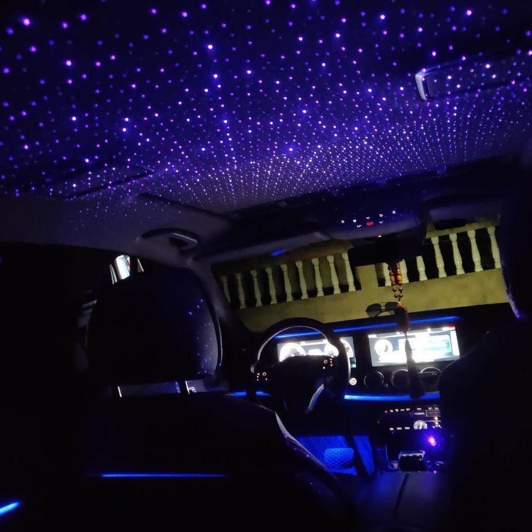 Звездный свет для салона автомобиля, миниатюрная Светодиодная звезда, лазерная атмосфера, окружающий проектор, USB, Автомобильное украшение,...