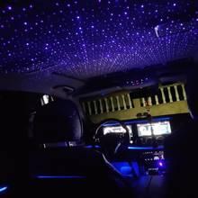 Luz estrelada interior do carro mini led estrela a laser atmosfera ambiente luzes do projetor usb auto decoração telhado céu noite galáxia lâmpada