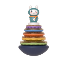 Toy Tumbler-Toy Stacking-Rings Circle Music-Sound-Toys Rainbow-Tower Gift Infant Baby