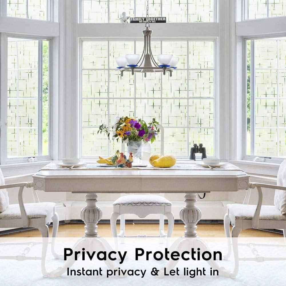 LUCKYYJ 3D 窓のプライバシーフィルム静的なウィンドウしがみつくビニール窓窓ガラスドアホーム熱制御抗 UV