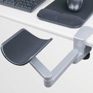 Image 3 - Neueste Ergonomische Computer Armlehne Metall Arm Unterstützung Einstellbare Arm Handgelenk Rest Unterstützung Hause Büro Maus Hand Halterung