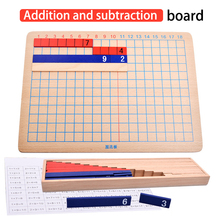 Enlightenment Education Addition And Subtraction Board Professional Teaching Aids Math Training Montessori Toy