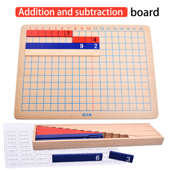 цена на Enlightenment Education Addition And Subtraction Board Professional Teaching Aids Math Training Montessori Math Toy