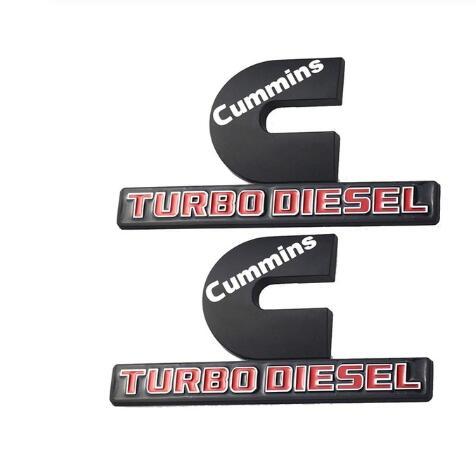 Black//White Vinyl Decal Sticker 7 pc Cummins Turbo Diesel Sticker Pack