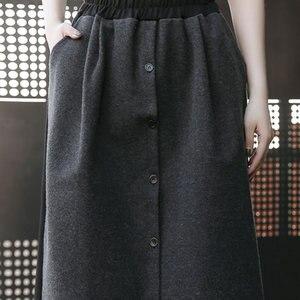 Image 4 - XITAO Street Women Pants Women Korea Fashion Patchwork High Waist Elastic Waist Pocket Elegant Wide Leg Pants 2019 WQR2040