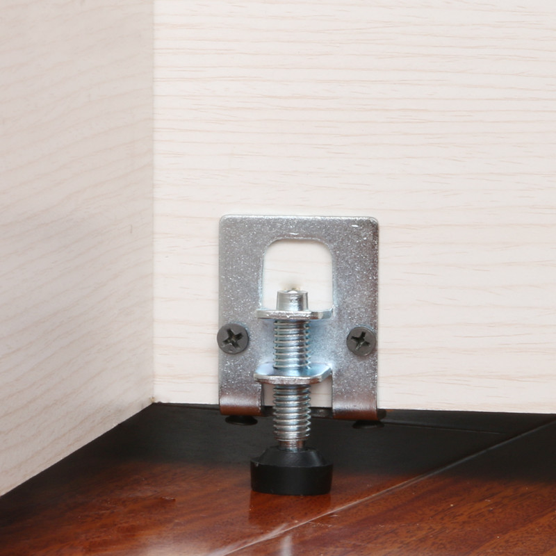 2pcs Adjustable Height Cabinet Feet Wooden Board Connection Support Legs Metal Table Foot Hardware Furniture Leg Accessories