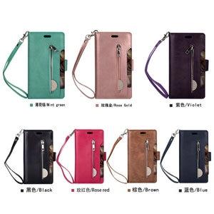 Image 5 - Luxury Zipper Flip Case Solid Leather for Xiaomi Mi 9 Lite Case Mi 9Lite Card Slot for Funda Xiaomi Mi9 Lite 9 SE Wallet Cover