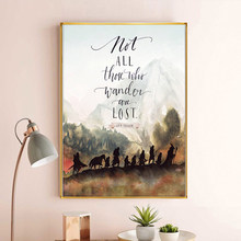 Fantasy Literature Movie J.R.R. Tolkien Quotes Oil Canvas Painting Posters and Prints Wall Art Picture Home Decoration No Frame