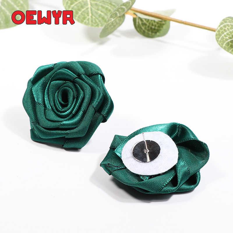 Grand Vintage rouge Rose boucle d'oreille mode coréenne fleur boucles d'oreilles Boho bijoux accessoires à la main fête grandes boucles d'oreilles Kawaii