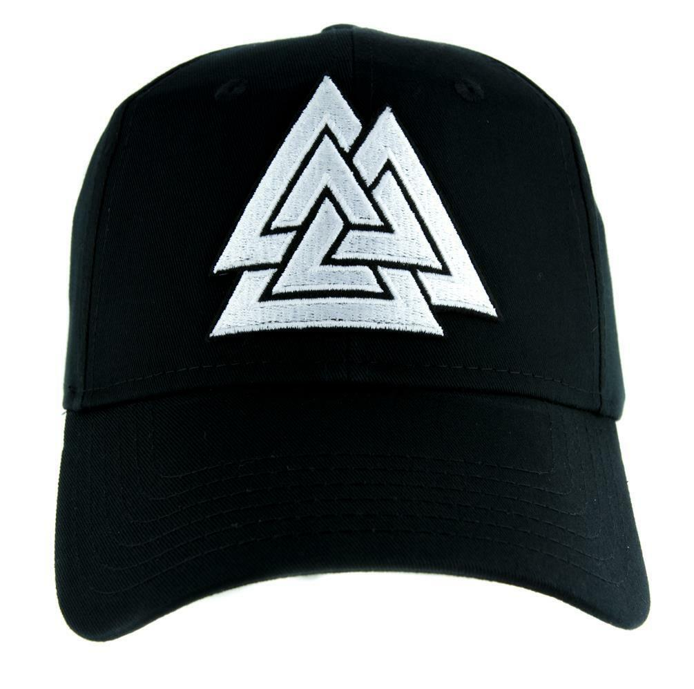Viking Valknut Printed Flat Bill Baseball Caps Women Men Punk Rock Cap