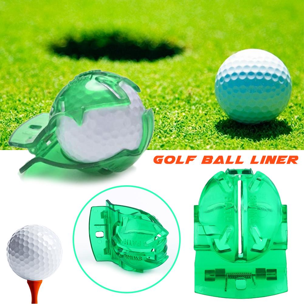 Scribe Accessories Golf Supplies Transparent Golf Ball Green Line Clip Liner Marker Pen Model Alignment Marks Put Tool