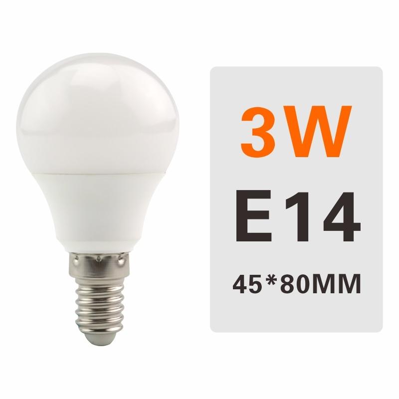 E27 E14 LED Bulb Lamps 3W 6W 9W 12W 15W 18W 20W Lampada Ampoule Bombilla LED Light Bulb AC 220V 230V 240V Cold/Warm White - Испускаемый цвет: 3W E14
