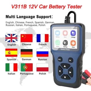 Image 3 - Carga de coche Analizador de prueba de carga para coche, herramienta de diagnóstico automotriz de 12V, cargador de batería, analizador, V311B