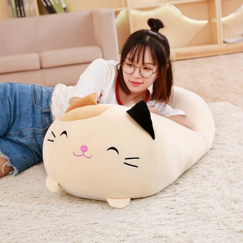 30/60/90cm macio animal dos desenhos animados travesseiro almofada bonito gato do cão gordo totoro pinguim porco sapo brinquedo de pelúcia enchido adorável presente das crianças