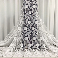 White Lace 2020 High Quality Lace Fabric Floral Multiple Types Embroidery Design Wedding Polyester Breathable Fabrics For Dress