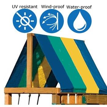 Водонепроницаемый тент крыша крышка печатные полосы детская площадка качели набор замена брезент SNO88